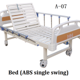 Medical bed / nursing bed / ABS material at the head and tail of the bed / the head of the bed can be swung up
